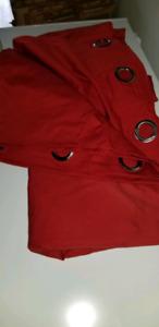 2 panneau de rideau rouge