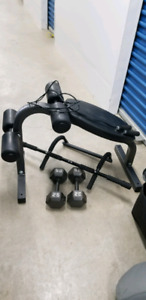 Situp Bench dumb bells