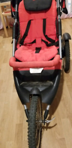 Reversible seat jogging stoller