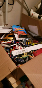 Massive box of assorted boys toys.