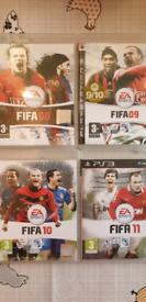 PS3 FIFA 8, 9, 10, 11, 12, 13