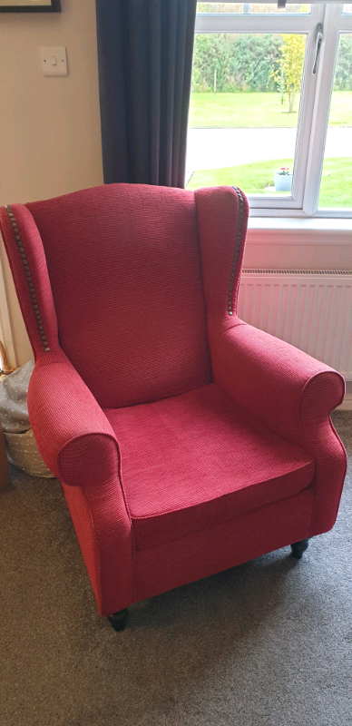 Red 'Next' Sherlock' Armchair | in Carnoustie, Angus | Gumtree