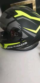 Motorcycle helmet x2 both full face 1 xl 1 medium