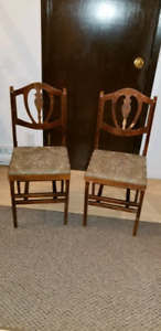 Antique Folding Card Chairs