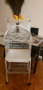 BIRDS CAGE TWO MONTHS USED EXCELLENT CONDITION.