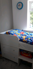 Shorty midsleeper bed