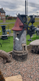 Ex large stone garden windmill ornaments