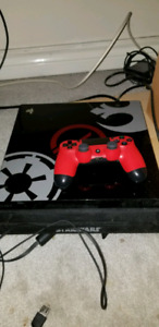 Ps4 pro 1TB star wars edition with 5 games.
