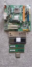 Motherboard lga775 MS-7301,Pentium D 945 ,4gb X 2 DDR3