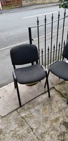 3 x upholstered stacking chairs