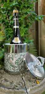 Vintage Chrome Filigree Ice Bucket, Champagne Chiller,Weddings