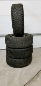 Set of 205 55 16 Winter Tires on rims 5×115