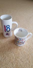 18th Birthday Mug and Birthday Mug
