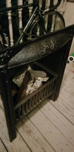 Cast iron fireplace front antique
