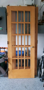 2 solid wood doors excellent condition