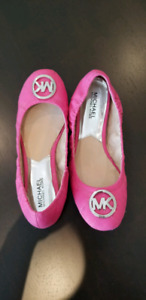 Michael Kors Bright Pink Mk Fulton Quilted Ballet Flats