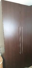 Modern Schreiber Dark Wood Wardrobe x 2