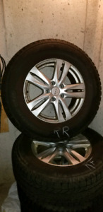 BF Goodrich Winter Slalom tires with rims, 235 70 R16 (5x114.3)