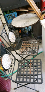 Wrought iron bistro set project