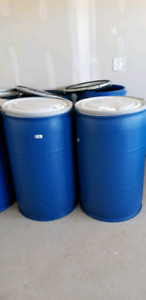 Large shipping plastic barrels-brampton