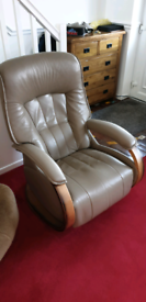 HIMOLLA SWIVEL AND RECLINER LEATHER CHAIR