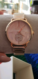 MICHAEL KORS LIMITED EDITION ROSE GOLD GLOBE WATCH
