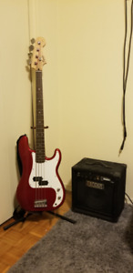 Fender Bass Guitar with Amp