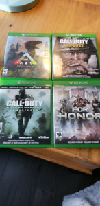 xbox one games ark. call of duty. for honor