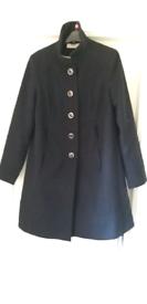 Maternity coat size 14 navy