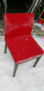 Red chair .good for makeup or student chair