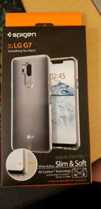 LG G7 Thin Q Clear Case and Screen Protector