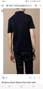Burberry polo navy blue size M - like new