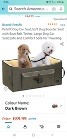 PetsFit dog car seat booster Medium