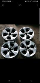 "16"" Genuine BMW Alloy wheels sport m fit 1 2 3 4 series cars 5x120 T5"