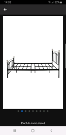 Argos double metal bed