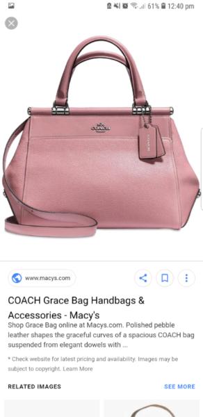 f49e2e334a COACH Grace Bag Dusty ROSE