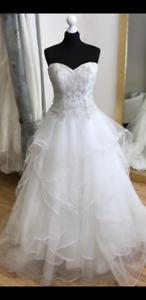 Wedding dress +headpiece +veil