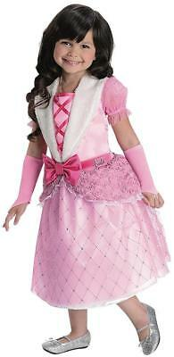 Rosebud Princess Barbie Pink Gown Fancy Dress Up Halloween Deluxe Child (Deluxe Barbie Kostüm)