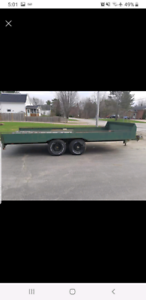 Homemade heavy duty trailer
