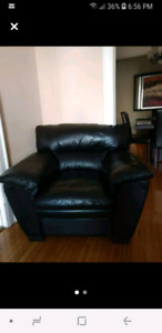 Comfy leather arm chair