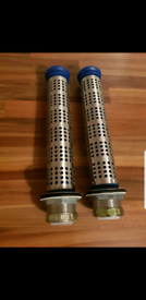 2 new commercial sink plugs with strainer kits