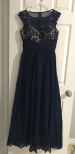 Evening formal gowns / dresses  - purple and blue