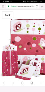 Baby Girl Crib Bedding Bumper Set