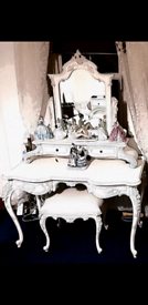 FRENCH DRESSING TABLE AND STOOL