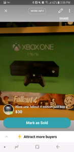 Xbox one fallout 4 edition just box and cord