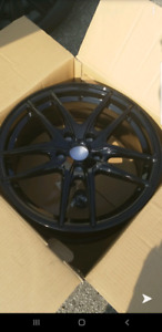 """17"""" BLACK DAI ALLOY RIMS 5x112 WITH TIRES"""