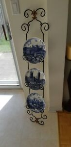 Wrought Iron Wall  Plate Holder