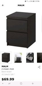 IKEA Malm 2 drawer chest/ night stand
