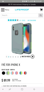 NEW LIFEPROOF FRĒ FOR iPHONE X CASE- Gray