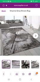 Brand new Wayfair Smyrna rug brown/grey